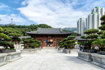 tang: Chi lin Nunnery, Tang dynasty style temple, Hong Kong, China