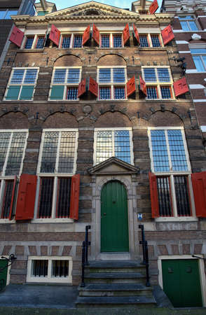 social history: Amsterdam,The Netherlands-January 08,2016: The Rembrandt House is a house in the Jodenbreestraat in the center of Amsterdam, now a museum. Between 1639 and 1658 the house was occupied by the famous Dutch painter Rembrandt van Rijn