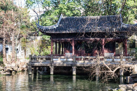 man made structure: Traditional Chinese architecture in Yu Yuan Gardens, Shanghai, China.