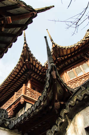 reign: Yu Yuan Garden, Shanghai. The garden is a classical Chinese garden, built during the reign of Ming Emperor Jiajing (1559).
