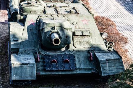 barrel bomb: Military Tank Barrel Close Up
