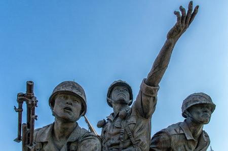 Unknown Soldier Memorial Statue at Korean War Museum, Seoul
