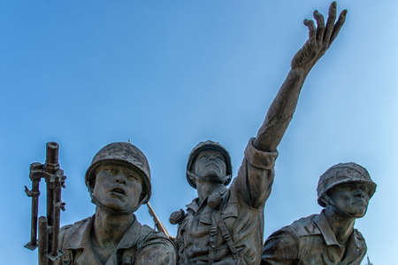 poignant: Unknown Soldier Memorial Statue at Korean War Museum, Seoul