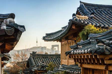 Seoul, South Korea at the Bukchon Hanok historic district.