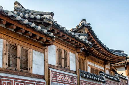 korean ethnicity: Traditional Korean style architecture at Hanok Village , South Korea.