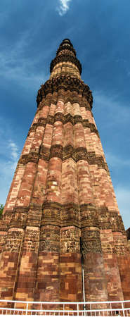 mughal empire: At 72.5 meters (237.8 ft), the Qutab Minar is the tallest brick minaret in the world. The tower is in the Qutb complex at Mehrauli in South Delhi, India. It is listed as a UNESCO World Heritage Site.