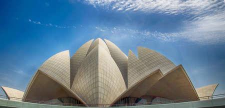 lotus temple: Lotus Temple of the Bahai Religion in New Delhi
