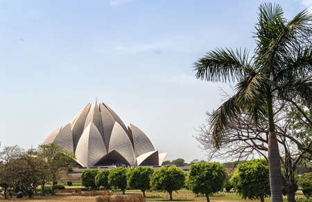 baha: The Lotus Temple, located in New Delhi, India, is a Bahai House of Worship