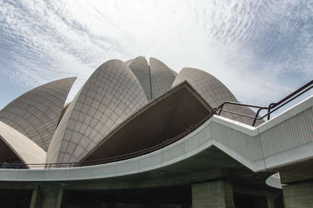 baha: Lotus Temple of the Bahai Religion in New Delhi