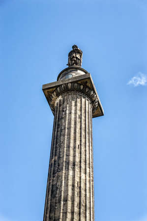 henry: EDINBURGH, SCOTLAND: April 26, 2016: Melville Monument commemorating Henry Dundas, the first Viscount Melville. Monument is placed in the middle of the St. Andrew square garden.