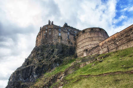 castle rock: Edinburgh Castle on Castle Rock in Edinburgh, Scotland