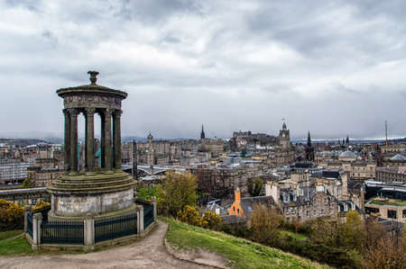 scottish culture: Beautiful view of the city of Edinburgh