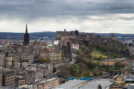 places of interest: Old town and castle from Calton Hill