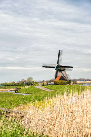 typically dutch: A typical Dutch landscape Stock Photo