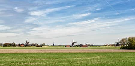 dutch typical: A typical Dutch landscape panorama.