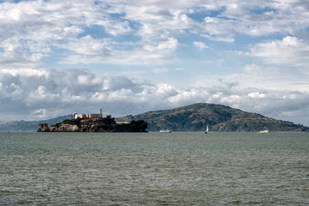 alcatraz: Alcatraz prison and Alcatraz island in the San Francisco Bay in California, USA Stock Photo