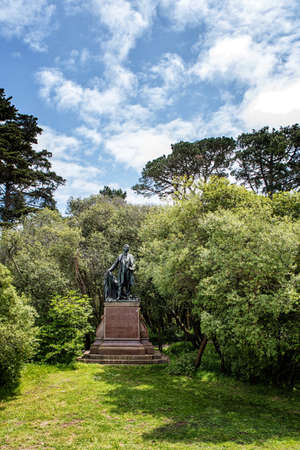 ca he: SAN FRANCISCO, CA - May 06, 2016 Thomas Starr King Monument in Golden Gate Park in San Francisco, He was an American Unitarian influential in California politics during the Civil War