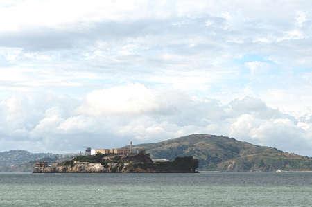 penitentiary: Alcatraz prison and Alcatraz island in the San Francisco Bay in California, USA Stock Photo