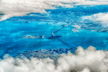 aerial photograph: Aerial Photograph of San Francisco and The Bay Area Stock Photo
