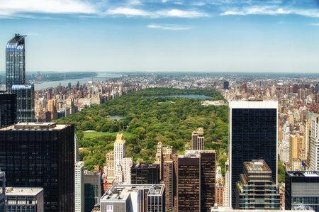 Central Park vue aérienne, Manhattan, New York; Éditoriale