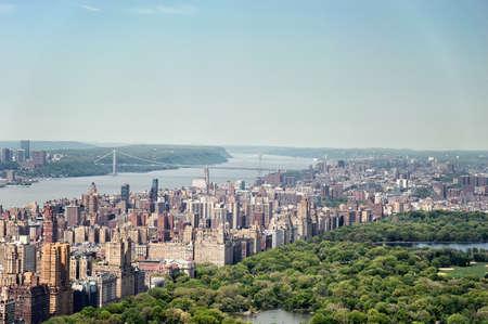 bird's eye view: Central Park birds eye view. Stock Photo