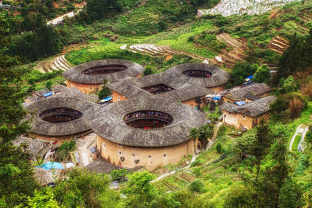 Hakka Tulou traditional Chinese housing in Fujian Province of China
