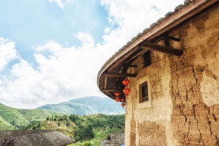 Wall of Tulou, traditional dwelling ethnic Hakka