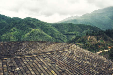 building feature: the earth building in Yongding of Fujian