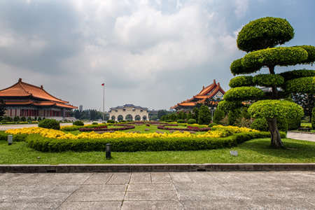 Liberty Square and chiang kai-shek Archway with the National Theater and National Concert Hall  a sunny day, Taipei, Taiwan Stock Photo