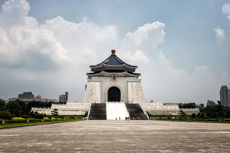 Landmark and tourist attraction erected in memory of Chiang Kai-shek, former President of the Republic of China. It is located in Zhongzheng District, Taipei, Taiwan. Editorial