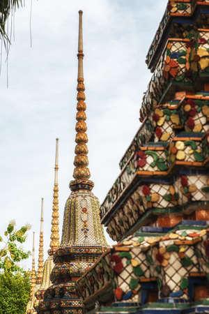 stereotypically: Chedi at Wat Po (Wat Phra Chetuphon), Bangkok, Thailand, Southeast Asia, Asia