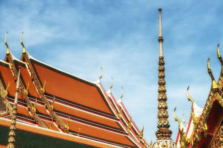 Roof of the temple Wat Pho, Bangkok, Thailand