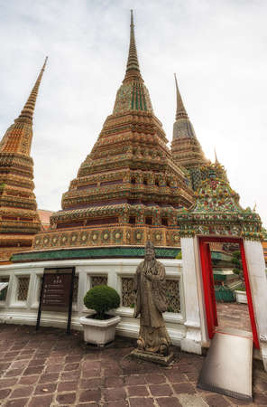 no entrance: Guardian statue at Wat Pho Temple, Bangkok, Thailand