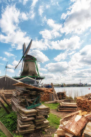 Het Jonge Schaap (The young sheep) is the name of a wooden wind powered sawmill, located in the Zaanse Schans, in the municipality of Zaanstad. Editorial