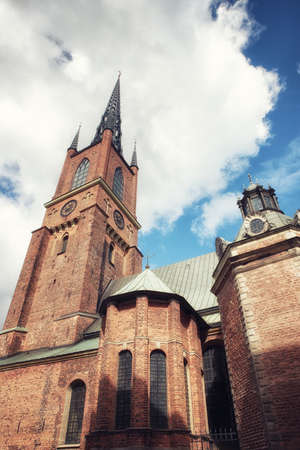 The Riddarholm Church (Swedish: Riddarholmskyrkan) is the burial church of the Swedish monarchs. It is located on the island of Riddarholmen
