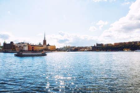 Cityscape, Stockholm, view on districts Riddarholmen, Gamla Stan and Kungsholmen Reklamní fotografie
