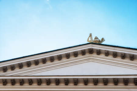 Abstract detail of the Helsinki Cathedral, the Finnish Evangelical Lutheran cathedral