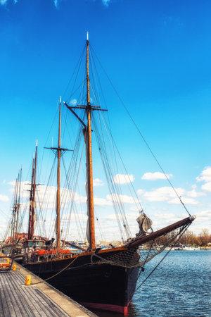 Helsinki Harbor Wooden Sailship Finland