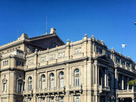 no entrance: Facade of the Teatro Colon in Buenos Aires (Argentina) royalty-free stock photoBuenos Aires, Argentina - June  7, 2016: Facade of the Teatro Colon in Buenos Aires (Argentina)