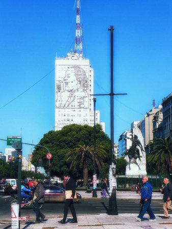 Evita Perón mural. Ministerio de Salud building. Buenos Aires. Argentina