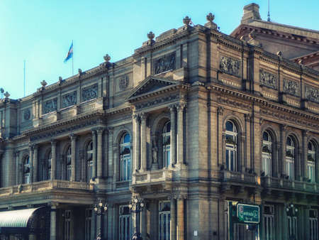Facade of the Teatro Colon in Buenos Aires (Argentina) royalty-free stock photoBuenos Aires, Argentina - June  7, 2016: Facade of the Teatro Colon in Buenos Aires (Argentina)