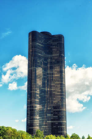 Lake Point Tower is a high-rise residential building located on a promontory of the Lake Michigan lakefront in downtown Chicago