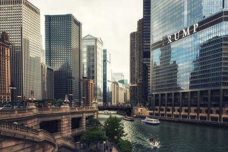 Chicago River and Trump International Hotel