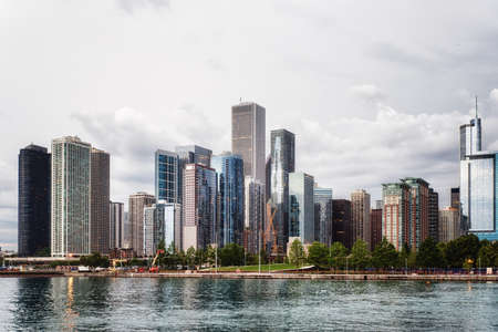 Chicago lakefront skyline as seen from the Navy Pier