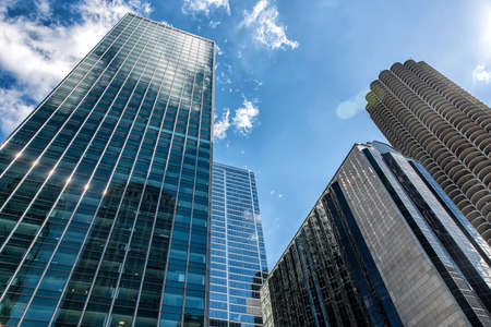 Low angle view building in Chicago, Illinois