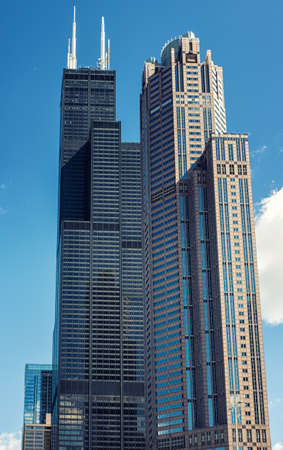 The Willis Tower, built as and still commonly referred to as the Sears Tower, is a 108-story, 1,450-foot (442.1 m) skyscraper in Chicago, Illinois, United States. Editorial