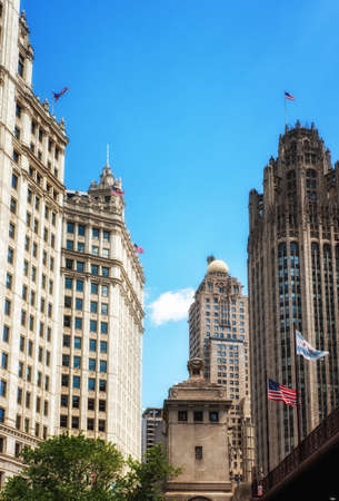 Wrigley Building and Tribune Tower in Chicago, USA Editorial