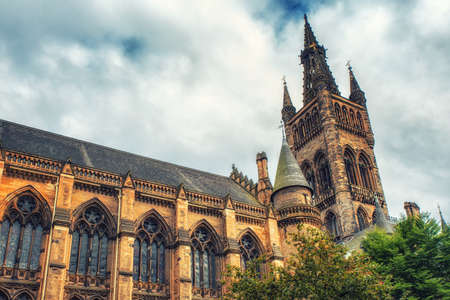 scottish culture: The outside of Glasgow University in Scotland