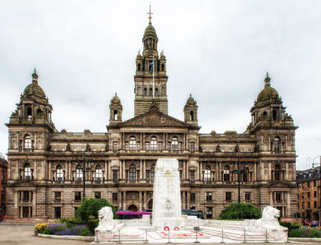 Cenotaph in George Square, Glasgow.