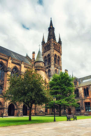 gothic revival: Glasgow Universitys towers - a Glasgow landmark built in the 1870s in the Gothic revival style. Designed by Sir George Gilbert Scott. Editorial